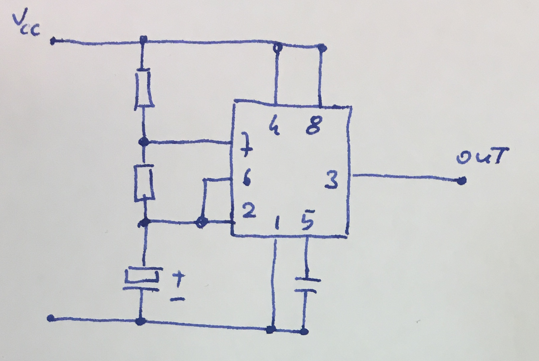 555 Tutorials Timer Oscillator Typical Connections Of A In Astable Mode
