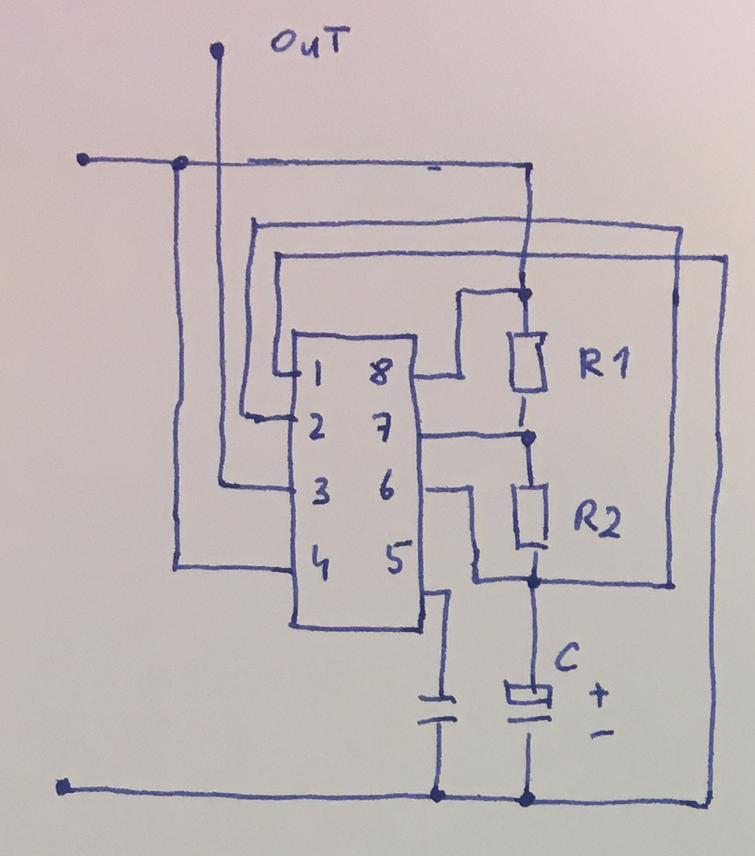 555 Tutorials Monostable Examples Typical Connections Of A Timer In Astable Mode