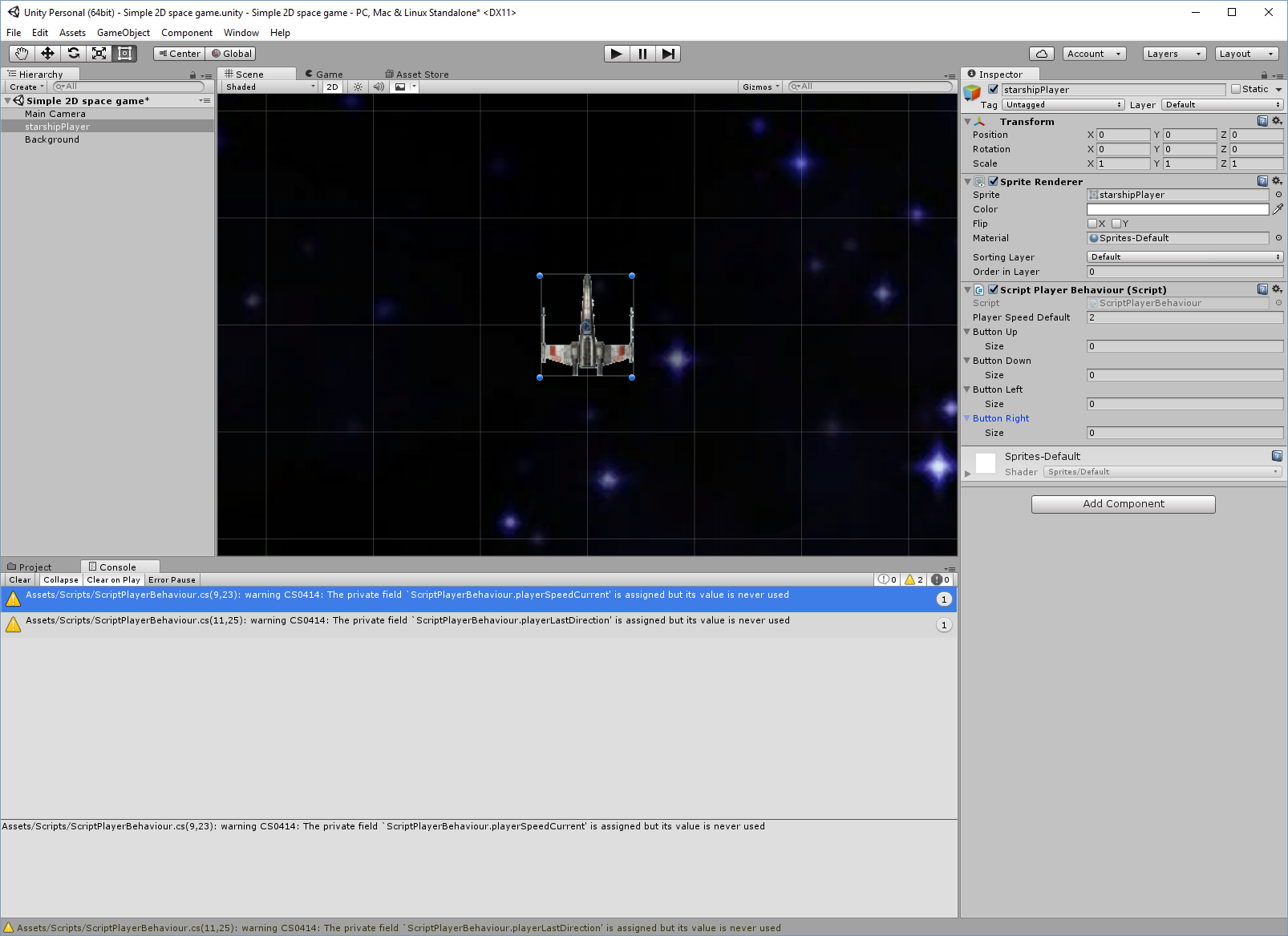 Simple 2D space game, part I – Tutorials