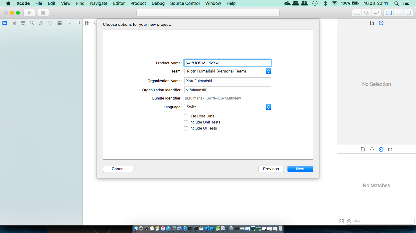 Multiview application (Swift) – Tutorials