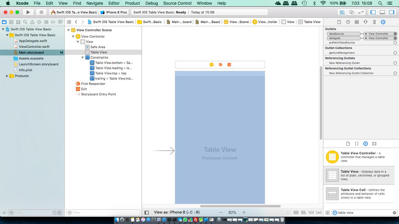 Table views basics (Swift) – Tutorials