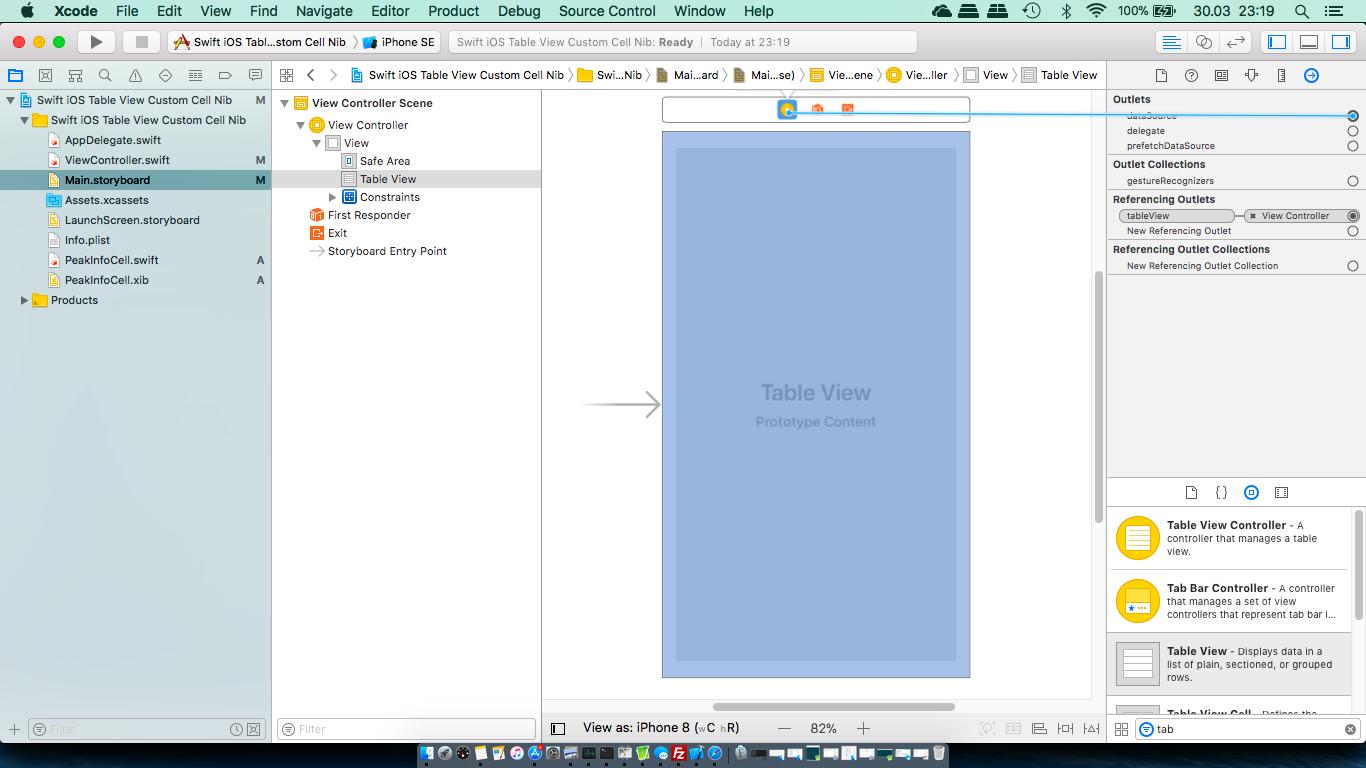 Table views – customizing cells (Swift) – Tutorials