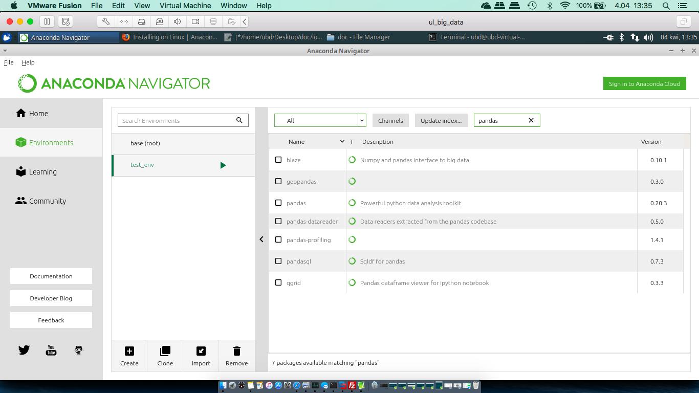 Virtual machine and Anaconda installation and configuration – Tutorials