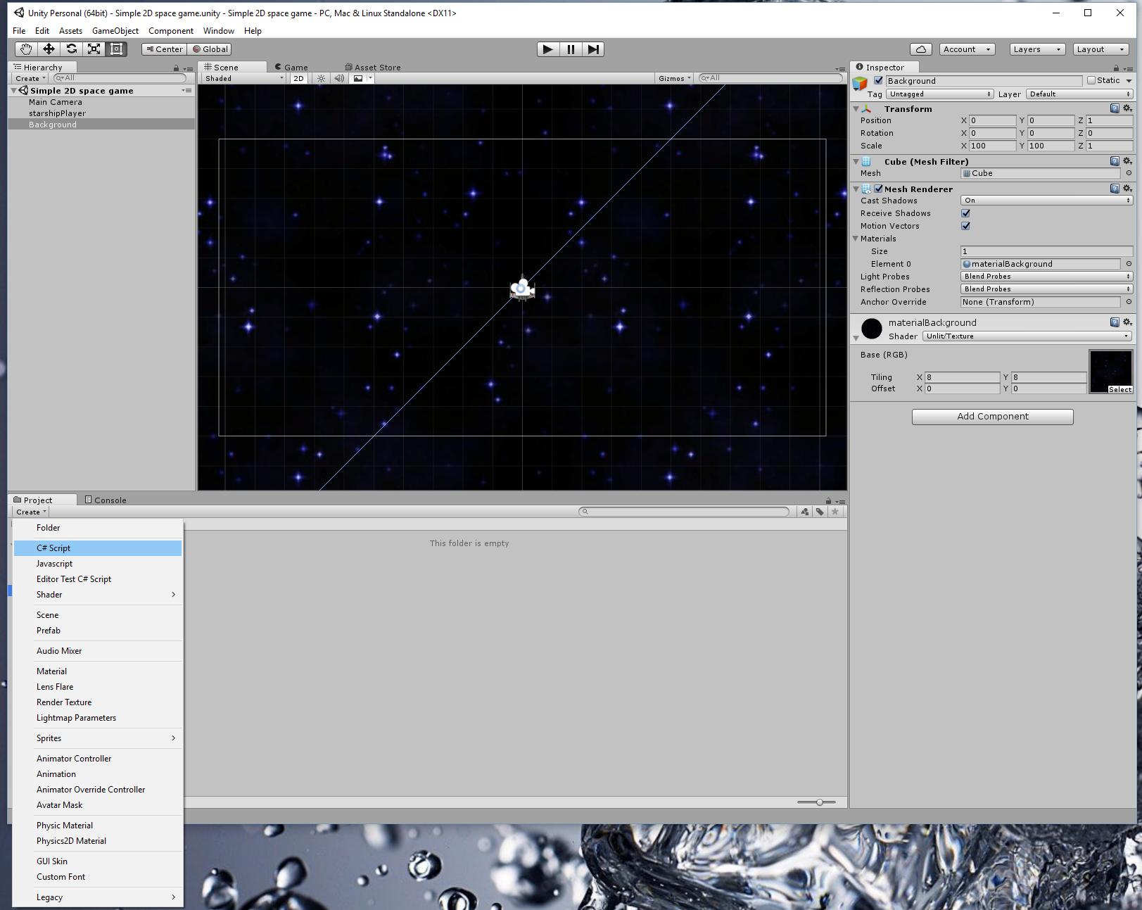 Simple 2D space game, part I – Tutorials